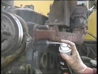 close up photo of Freeze-Off being used to release a seized bolt