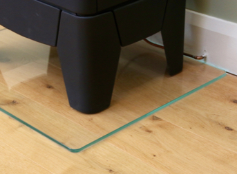 photo of clear glass plinth sealed at edges with TTP clear Probond sealer part number PRB20CL