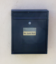 photo of house post box stuck to wall with TTP Probond part number PRB20B