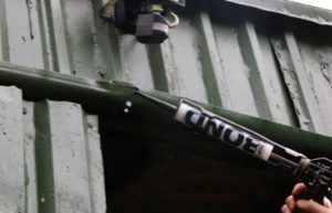 close up of metal gutter being repaired with TTP Probond part number PRB20B