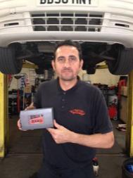 photo of car mechanic holding a set of TTP HARD cobalt drill bits