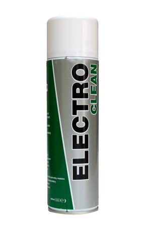 Close up of TTP ELECTROCLEAN high strength electrical contact cleaner 500ml aerosol part number ELEC500
