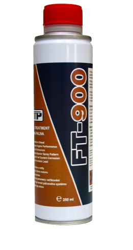 Close up of TTP FT900 universal fuel treatment 250ml liquid part number FT900
