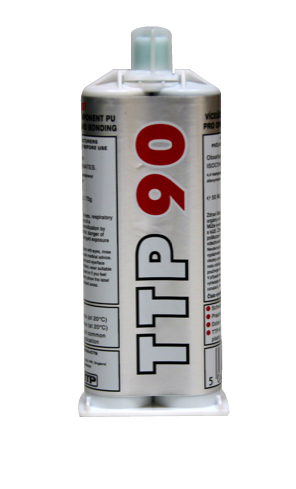 Close up photo of TTP 2pack 50ml instant plastic repairs PU adhesive part number TTP90