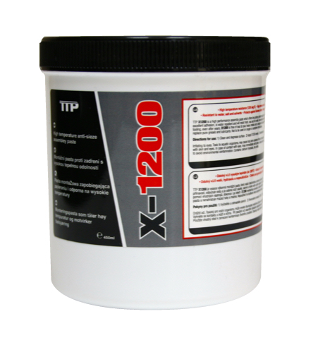 Close up of TTP 450grm X1200 anti seize paste part number X1200T