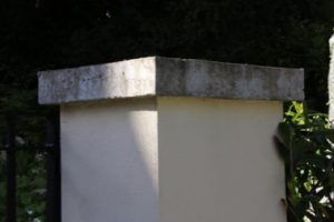 Photo of gate pillar with capping bonded on using TTP PRO-BOND