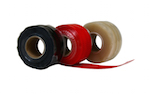 close up photo of Silicone repair tapes Black, red and transparent by TTP