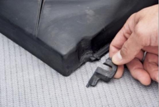 Image of plastic repair on broken lug